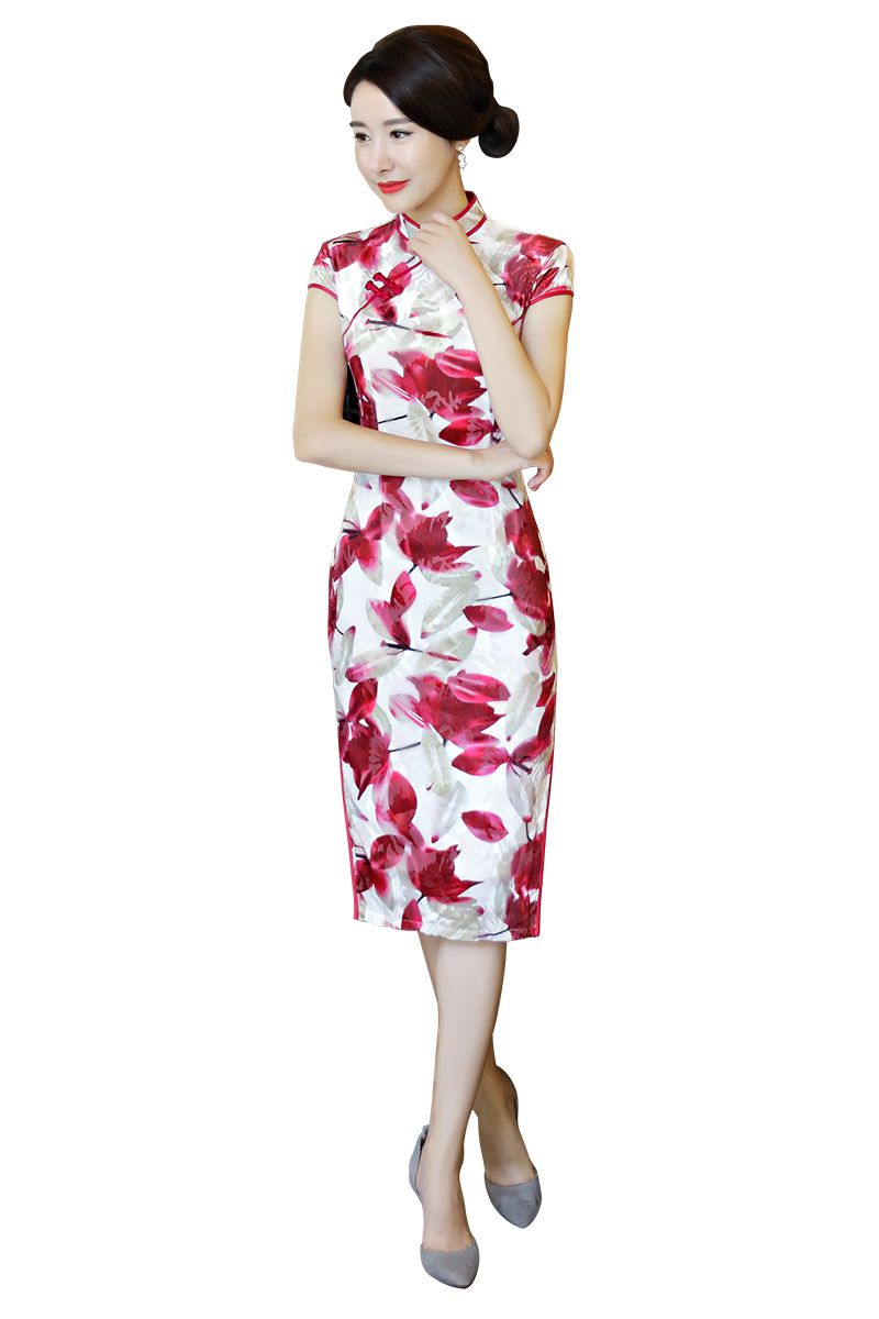 a87cc8f6f Click to Buy << Shanghai Story Short Qipao Knee Length Chinese Dress Flower  Print chinese style dress Chinese Oriental dress Women's cheongsam  #Affiliate