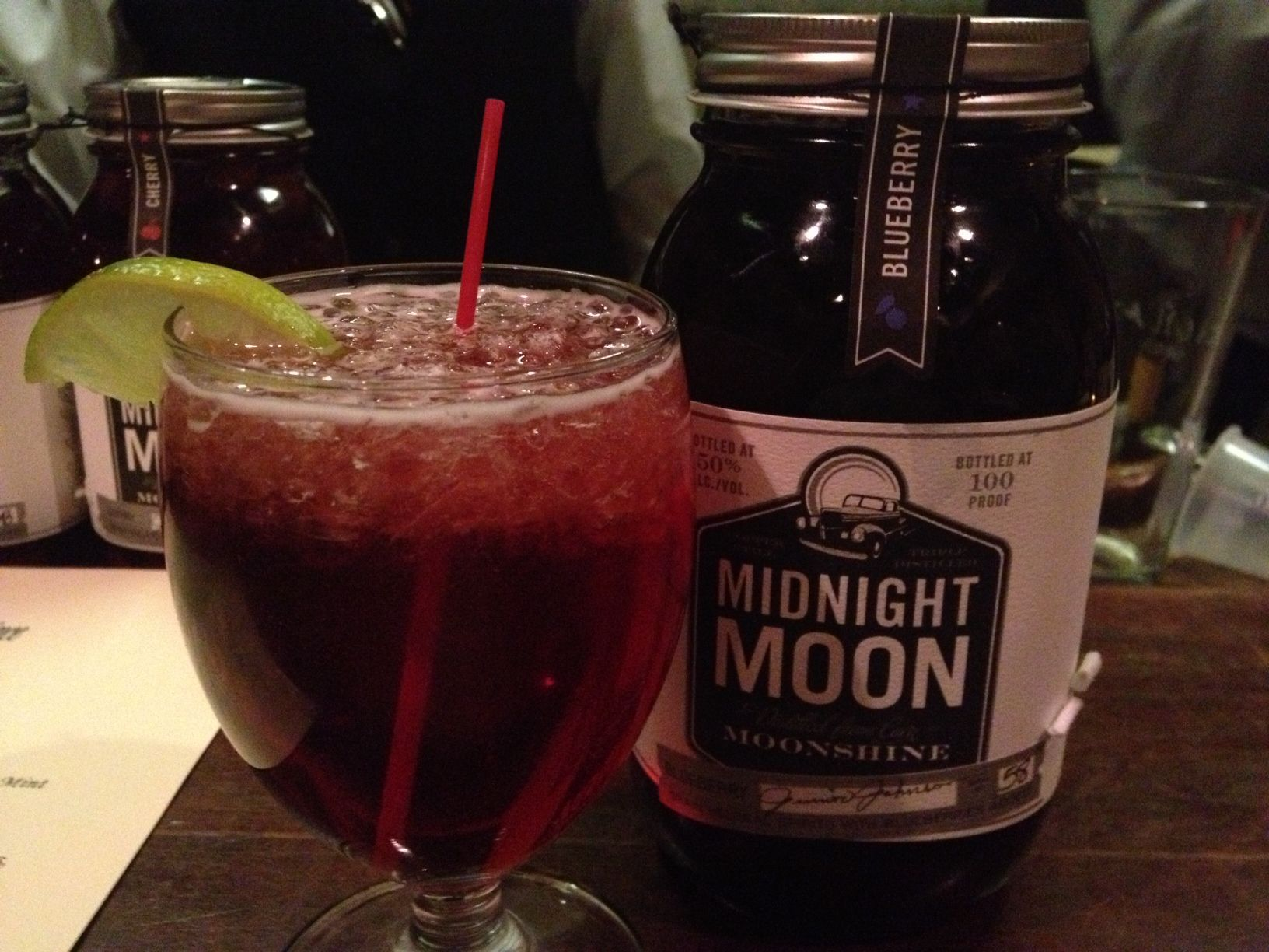 Purple Haze with Midnight Moon Blueberry Moonshine at The King and Prince. #gatravel, #setravel