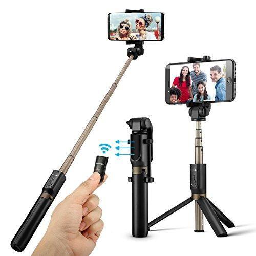Control Remoto Andoer Selfie Pole Kit de Accesorios Selfie Inal/ámbrico C/ámara de Video Digital Foto de Video con Mini Tr/ípode Tr/ípode para Tel/éfono