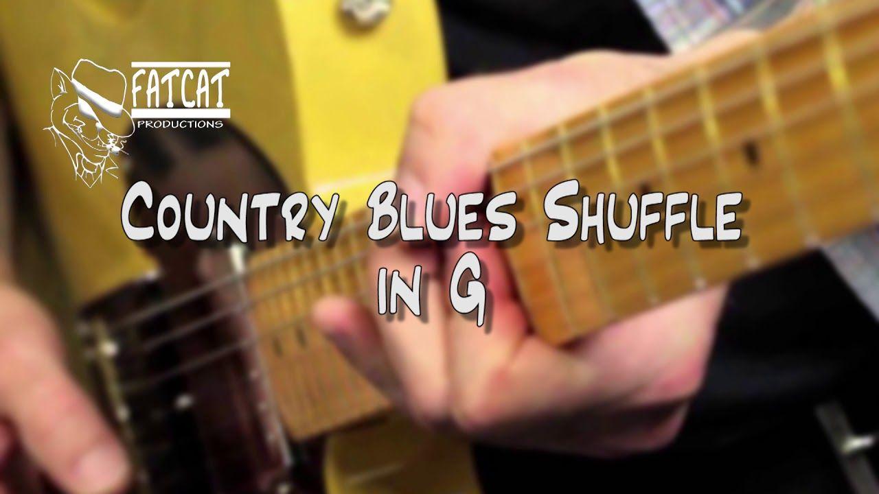country shuffle blues in G Backing tracks, Blues guitar
