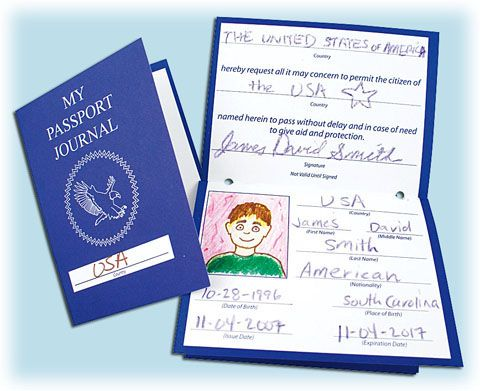 All about me passports i thought these would be fun as for Fun passport template
