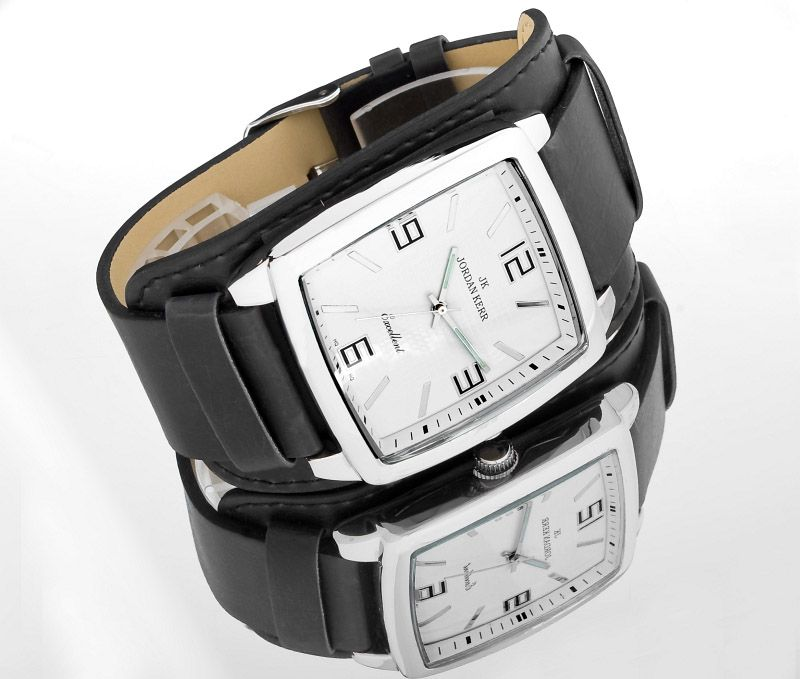 szeroki zegarek damski