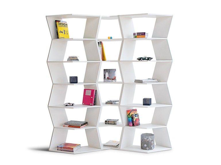 Librería abierta composable modular ZIG ZAG by B-LINE diseño Aziz ...