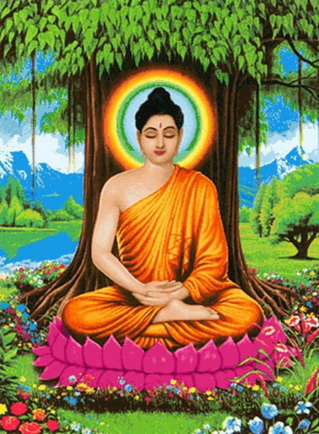Buddha painting hd wallpaper