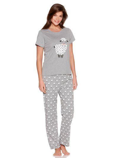 Sheep Print Pyjamas  d2a85b94e
