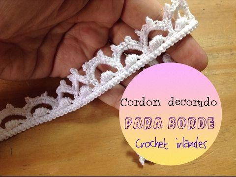 Crochet irlandés bolero para boda: red tradicional para sección de ...