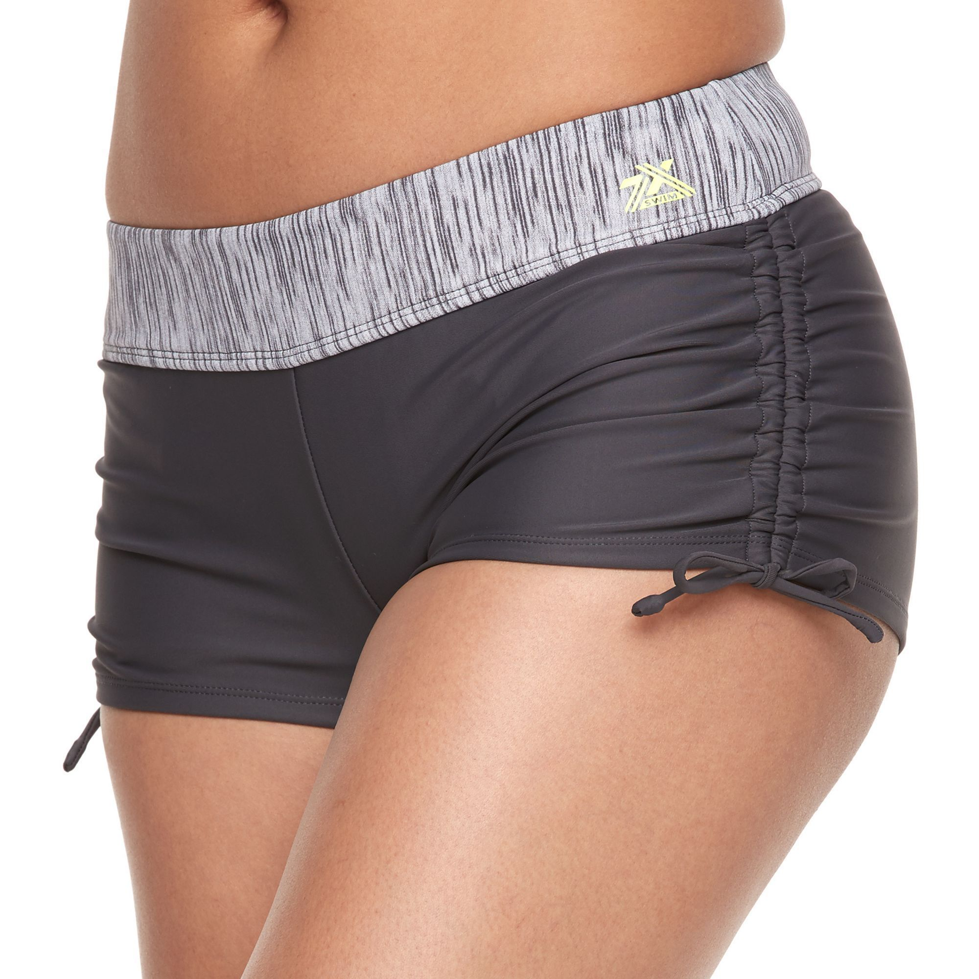 adc075ec9d Women's ZeroXposur Drawstring Ruched Swim Shorts, Size: 16, Yellow Oth