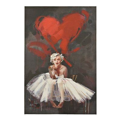 Marilyn Monroe Heart Canvas Art Print Kirklands Marilyn Monroe Painting Marilyn Monroe Art Marilyn Monroe Artwork