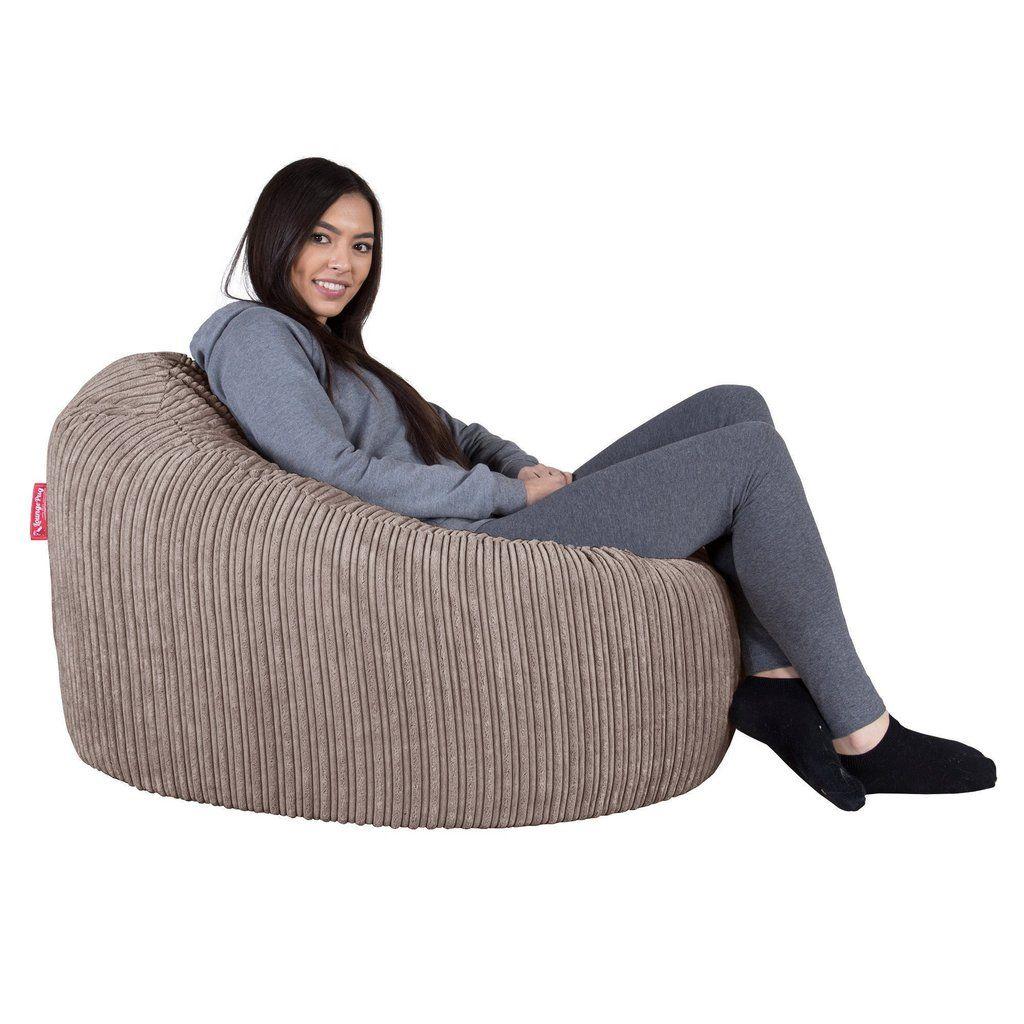 Mini Mammoth Sitzsack Cord Nerzfarben Einrichten Und Wohnen