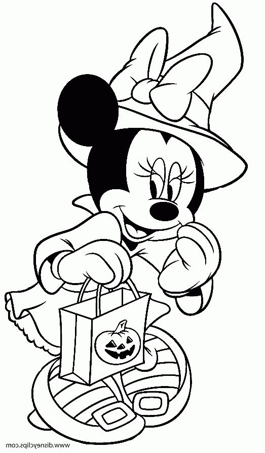 Coolest Minnie Mouse Halloween Color Pages