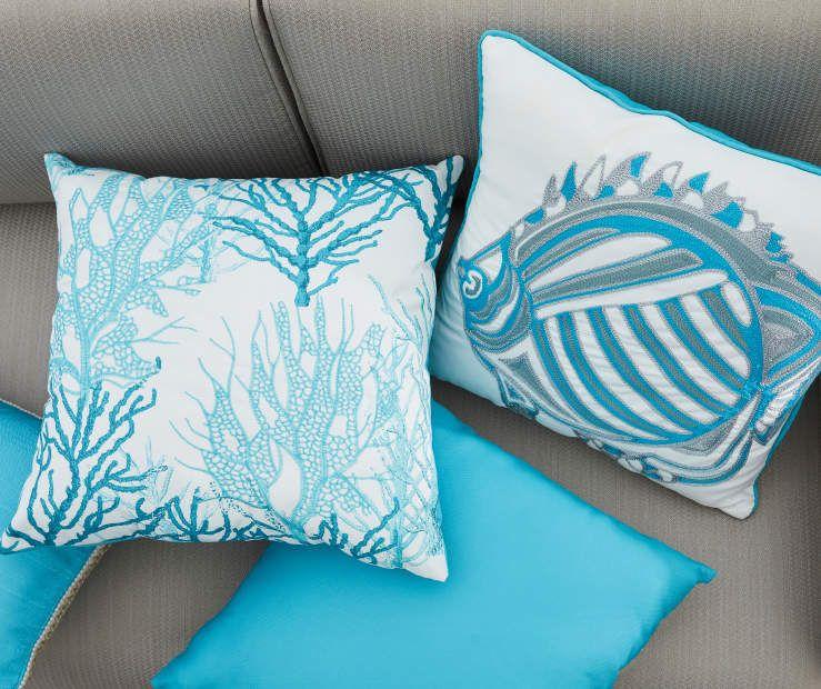 Best Renee Blue Jute Outdoor Lumbar Throw Pillow 13 X 20 640 x 480