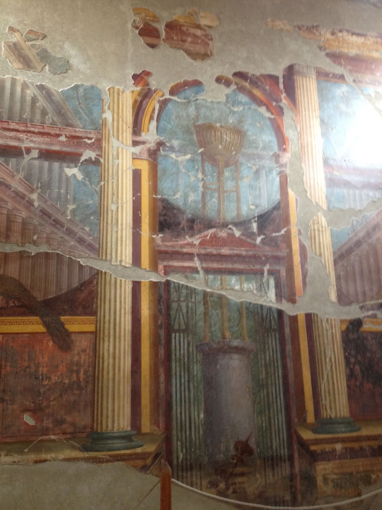 "Fresco in the ""Villa of Poppaea"" at Oplontis 