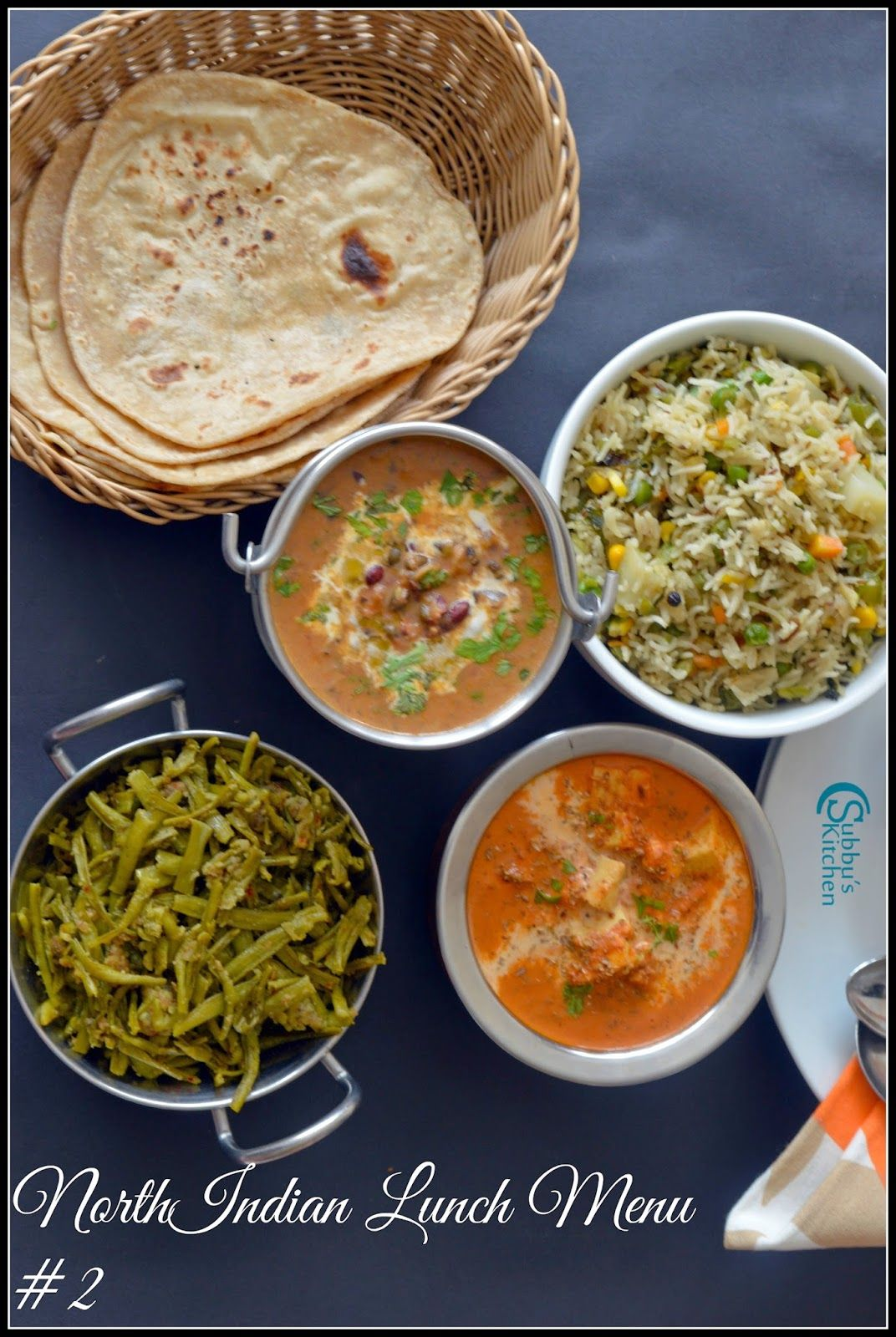 North Indian Lunch Menu 2