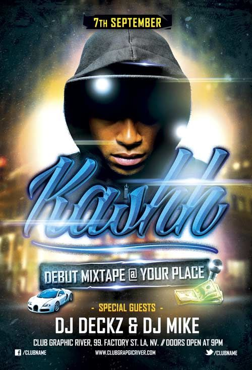 Free Debut Mixtape Hip Hop Flyer Template Free Flyer Templates - hip hop flyer template