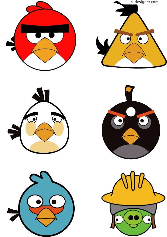 graphic relating to Angry Birds Printable Faces named Pin upon Cartoon Silhouettes, Vectors, Clipart, Svg, Templates