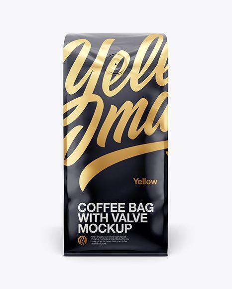 Download 16oz Glossy Coffee Bag Mockup Front View Bag Bagwithvalve Coffebagwithvalve Coffee Coffeebag Frontview Glossy G Mockup Free Psd Mockup Psd Bag Mockup