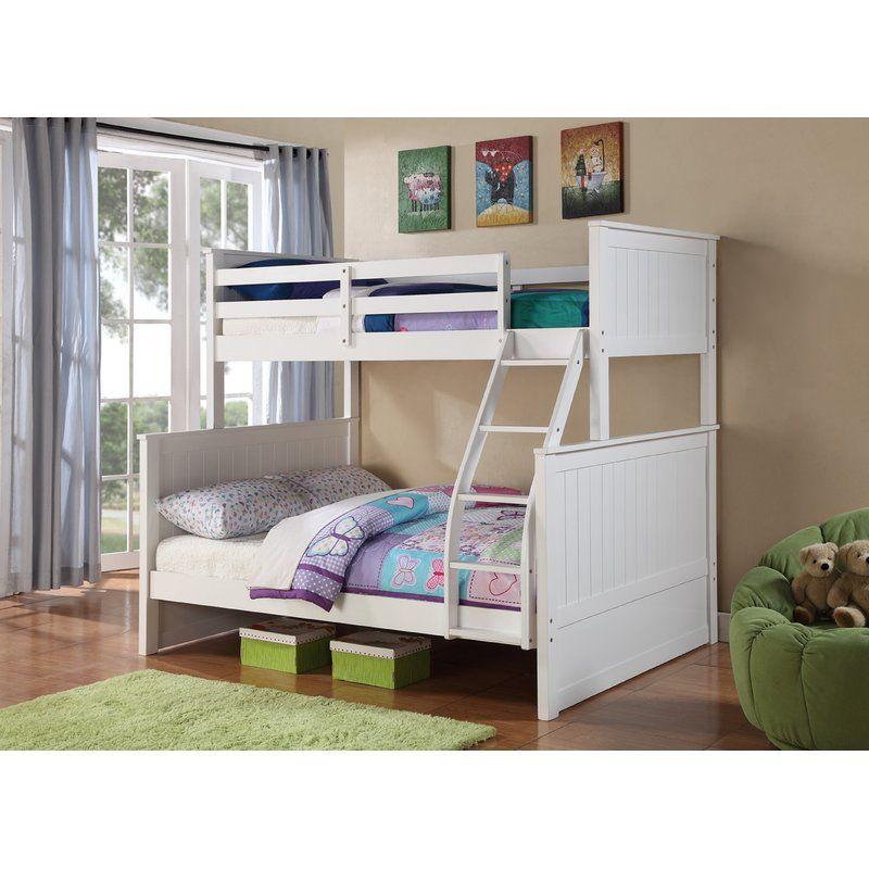 Harriet Bee Ciera Twin Over Full Loft Bunk Bed Reviews Wayfair