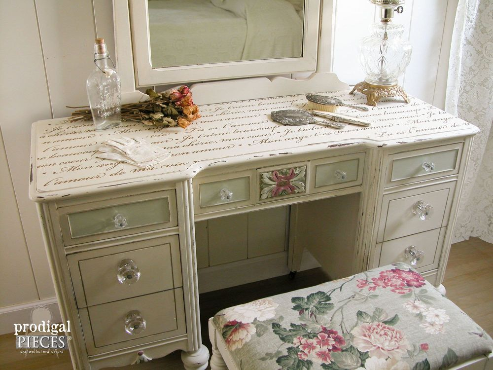 Top 10 Makeovers Of 2015 Shabby Chic Furniture Furniture Makeover Shabby Chic Vanity