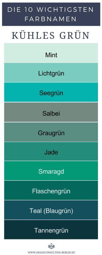 Khle Grntne sind Mint Lichtgrn Seegrn Salbei Graugrn Jade Smaragd Flaschengrn