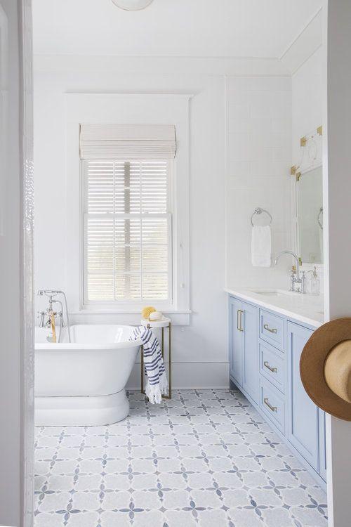 Baby Blue Bathroom In 2020 Master Bathroom Renovation Modern Master Bathroom Light Blue Bathroom