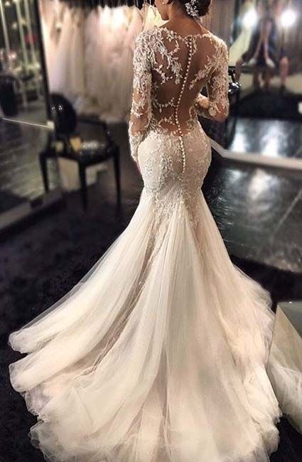af71c8e7efcc 2017 Mermaid Wedding Dress | Bridal Dresses | Wedding dresses, Lace ...