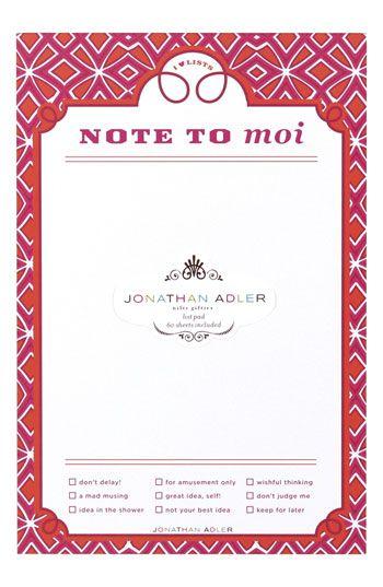 list pad #jonathanadler