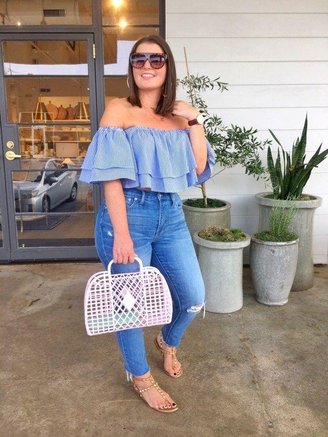 Photo of Summer fashion: OTS Ruffle Top and Denim