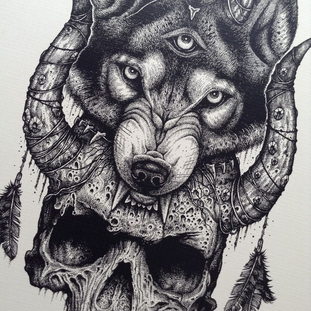 bf93f19ca Image of Third Eye Wolf Wolf Tattoos For Women, Tattoos For Guys, Cool  Tattoos