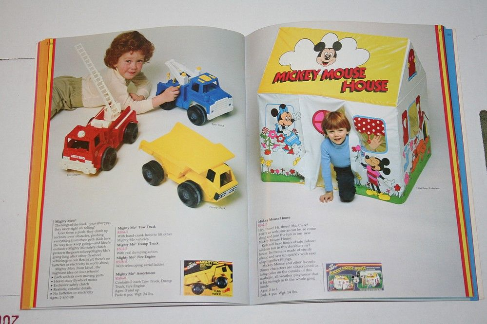 """Ideal """"Mickey Mouse House"""" playhouse and """"Mighty Mo"""" vehicles"""