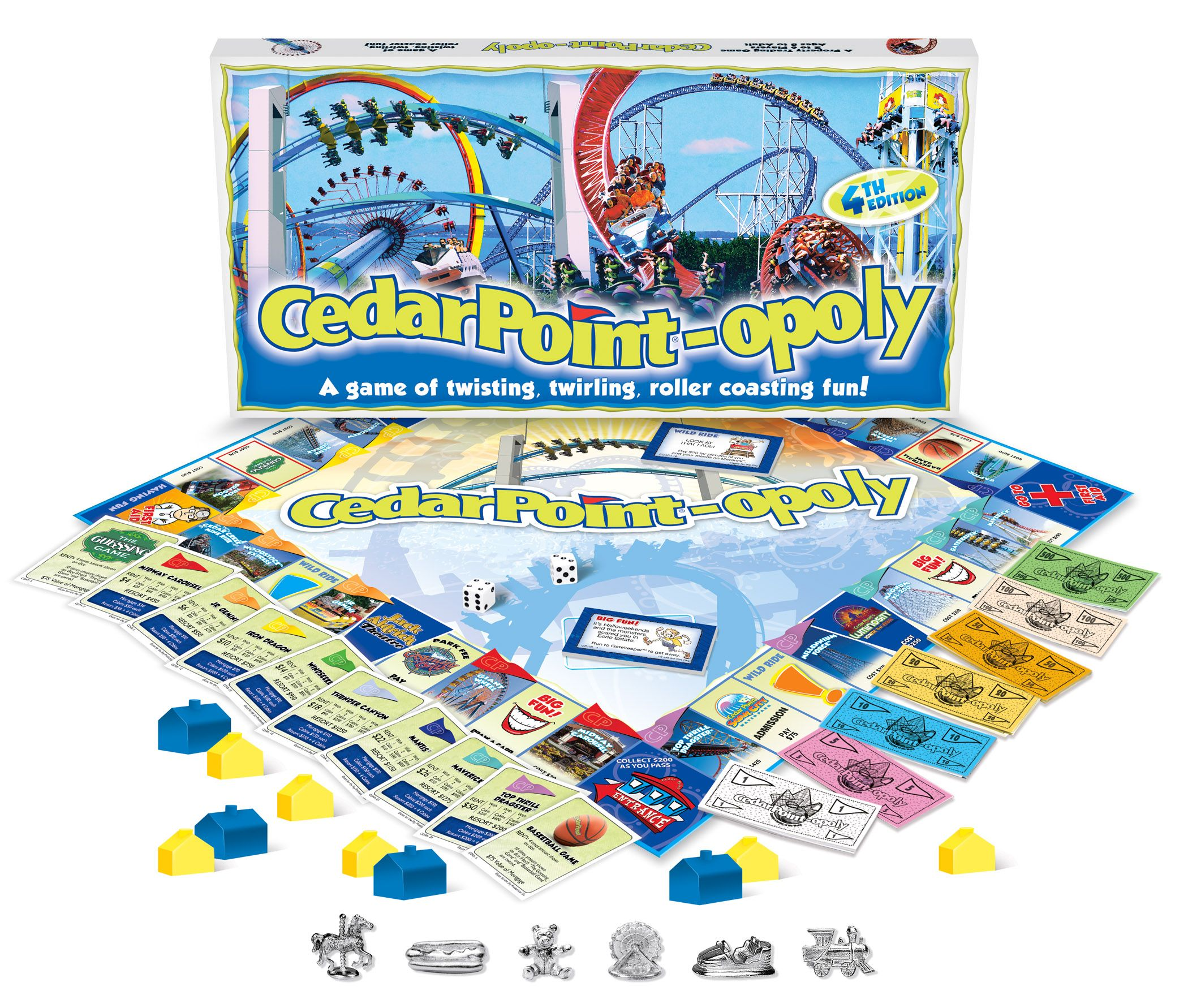 This Game Is In Its 4th Printing Cedar Point Opoly Has Become An