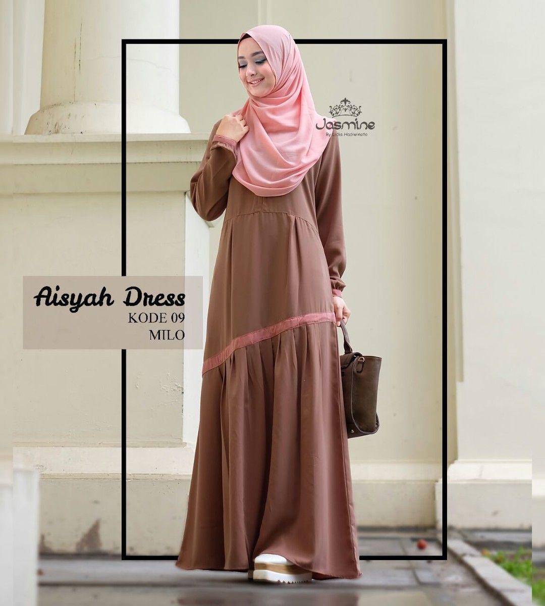 Gamis Jasmine Aisyah Dress 09 Baju Gamis Wanita Busana Muslim