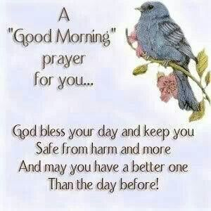 Goodmorning prayer