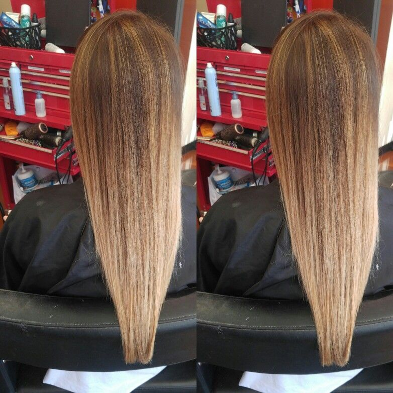 Amy at shag spa and salons The woodlands tx Ombre Long