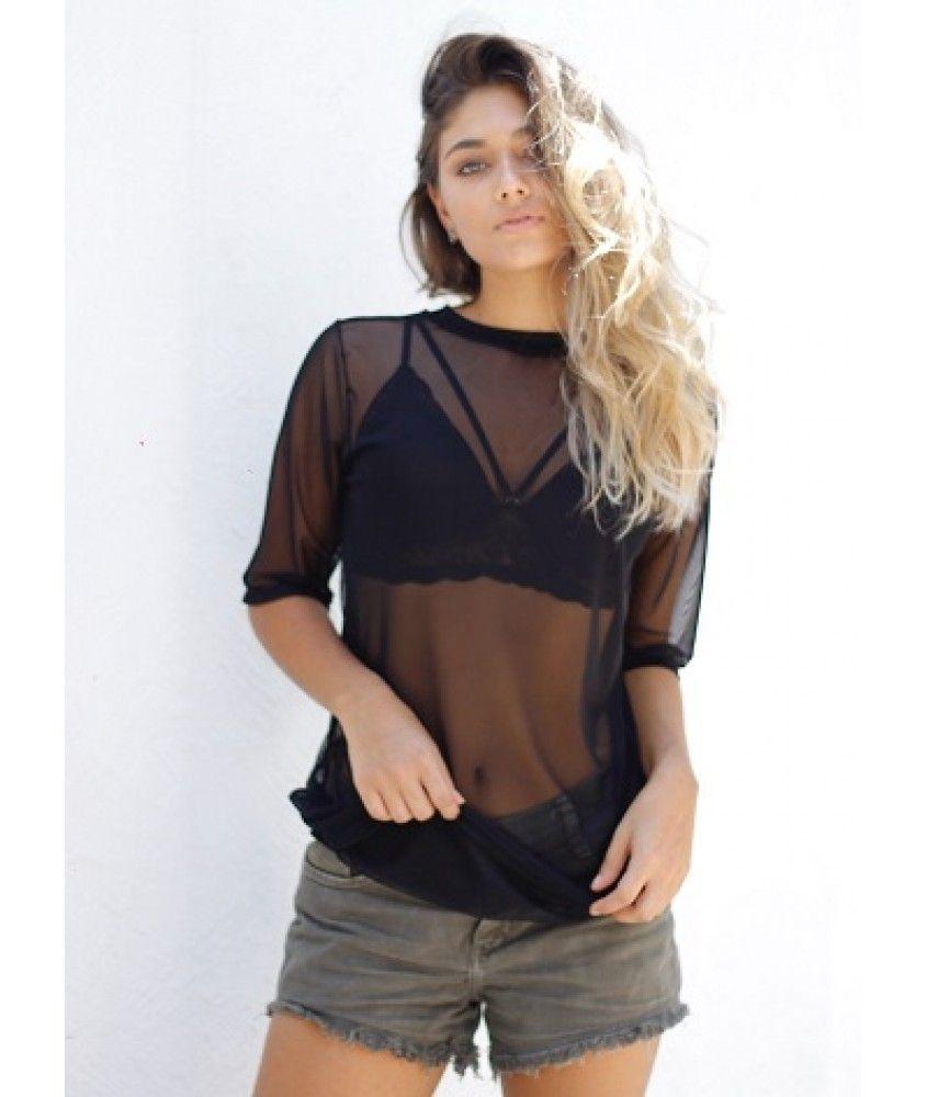 Resultado de imagem para blusa transparente  7aaaf5e117e