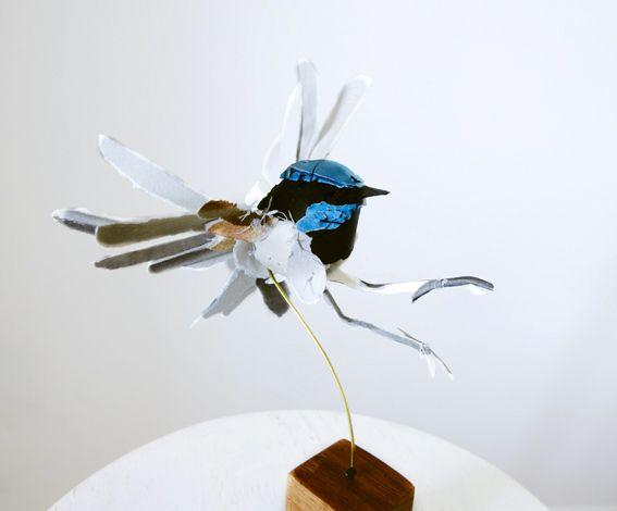 Anna-Wili Highfield  Beautiful torn-paper sculptures
