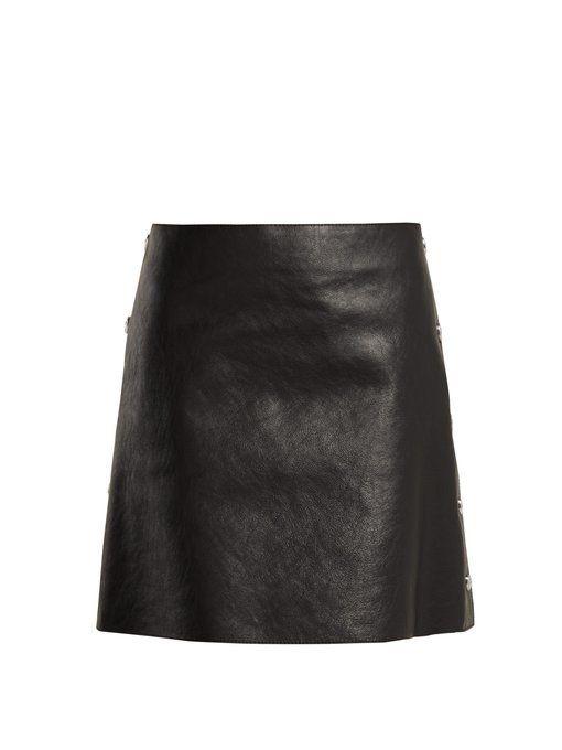 f92e5b333b Sonia Rykiel Crackled leather mini skirt | Skirts | Leather mini ...