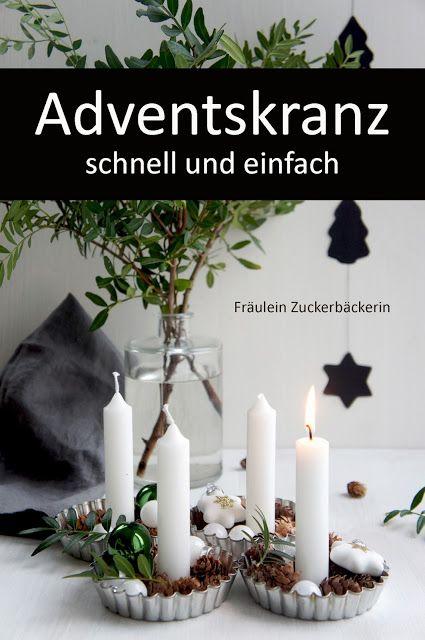 Fräulein Zuckerbäckerin: Adventskranz DIY #adventskranzskandinavisch