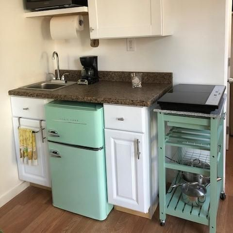 Magic Chef Retro 3 2 Cu Ft 2 Door Mini Fridge In Mint Green Hmcr320me The Home Depot Tiny House Interior Kitchen Remodel Tiny House Design