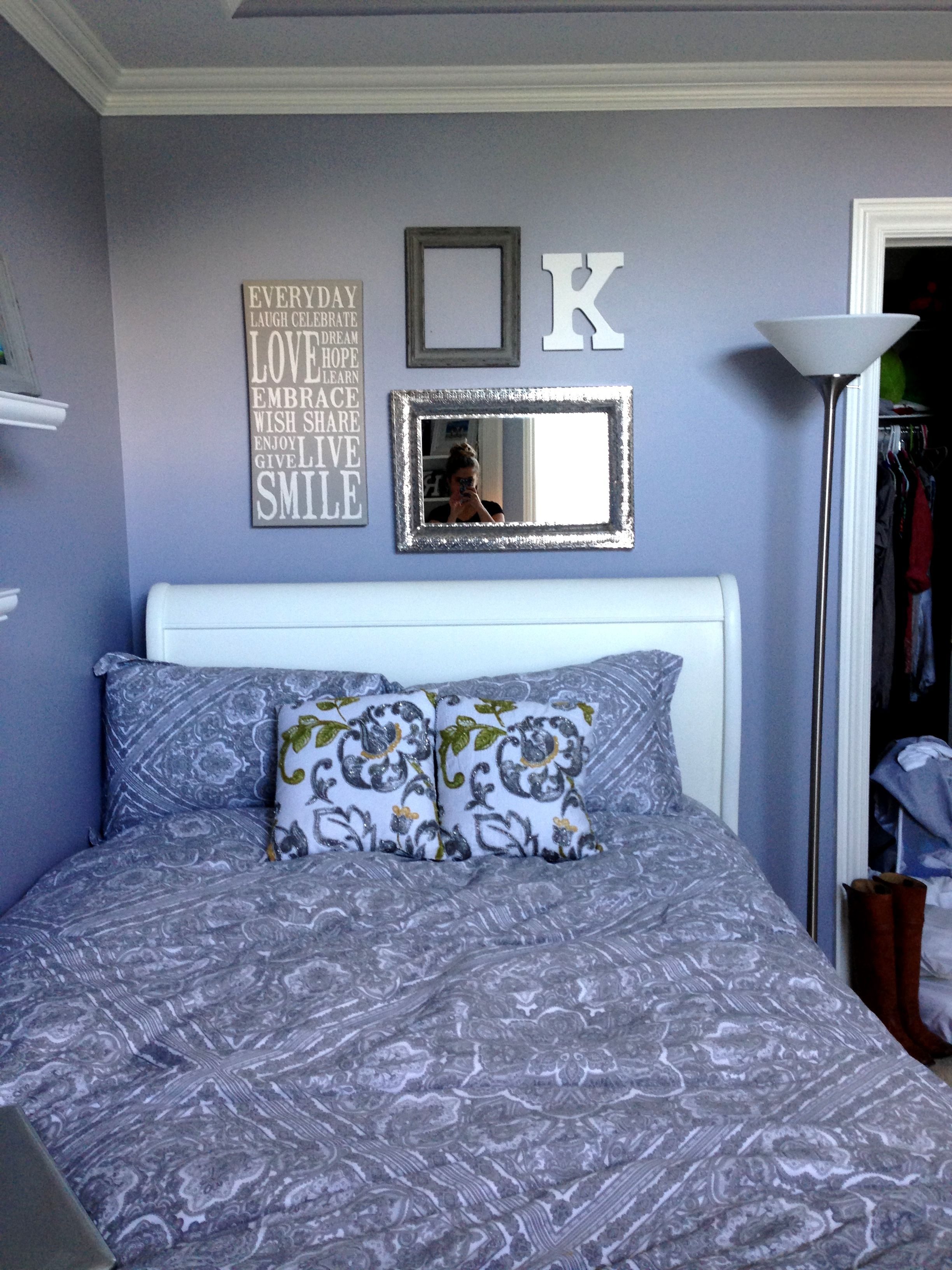 grey and purple bedroom for the home pinterest