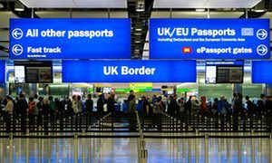 Immigration and passport control, Terminal 2, Heathrow Airport