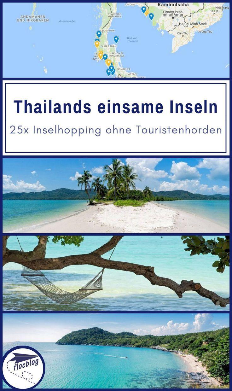 Thailand Inselhopping 25 Einsame Inseln Karte Thailand