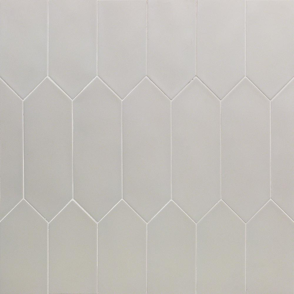Ivy Hill Tile Russell Light Gray 4 In X 12 In 10 Mm Matte