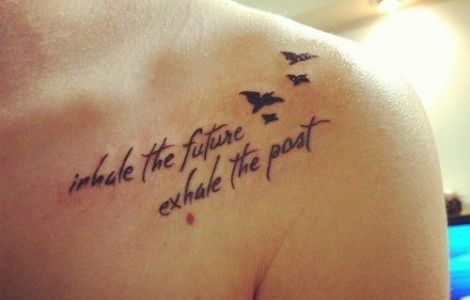front shoulder tattoo quotes | Bone tattoos, Clavicle tattoo ...