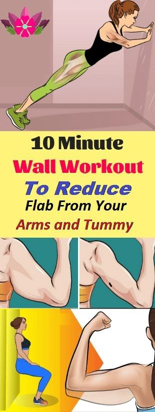 10 Minute Wall Workout to Reduce Flaw From Your Arms and Tummy