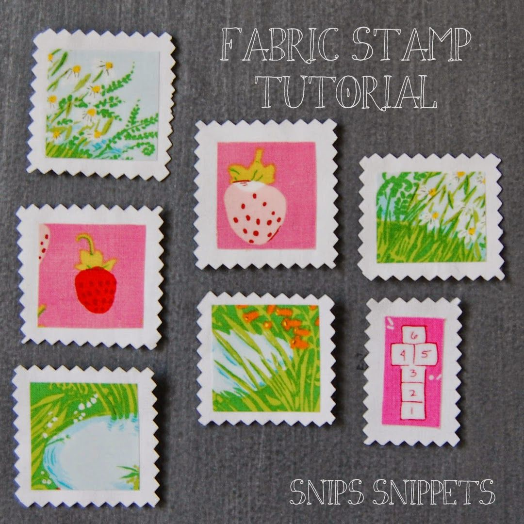 Finish Along Quarter 1 Tutorial Week – Fabric Stamps With Snips Snippets #fabricstamping