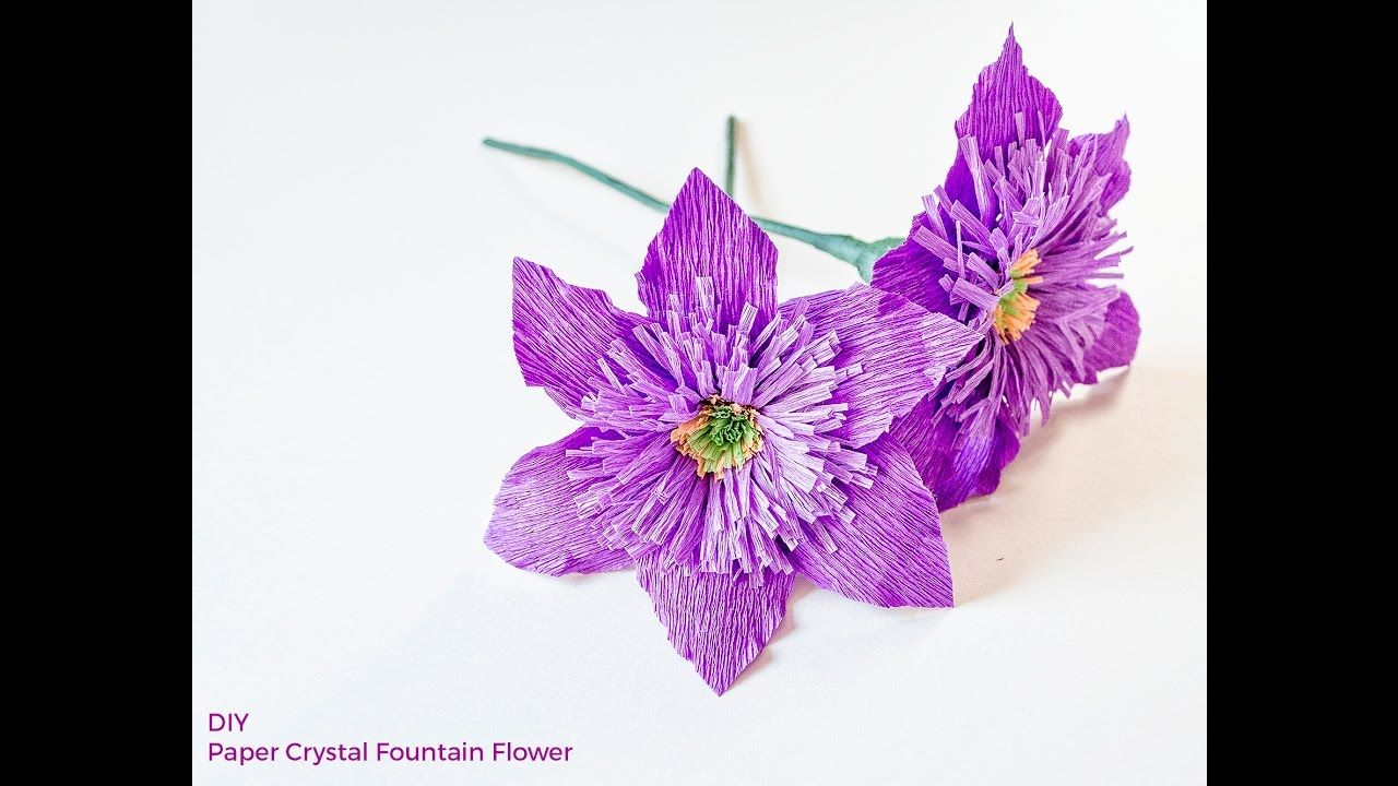 Diy How To Make Paper Flowers Clematis Flower Youtube Paper