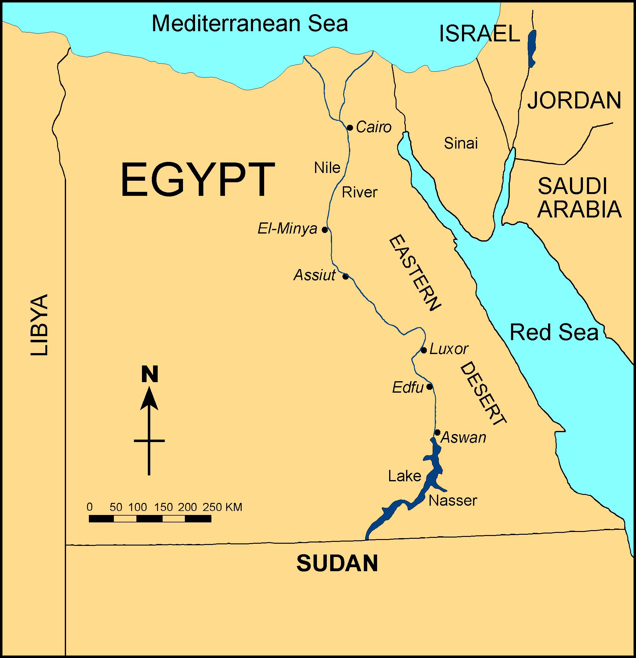 Ancient Egypt Was A Civilization Of Ancient Northeastern Africa - Egypt location
