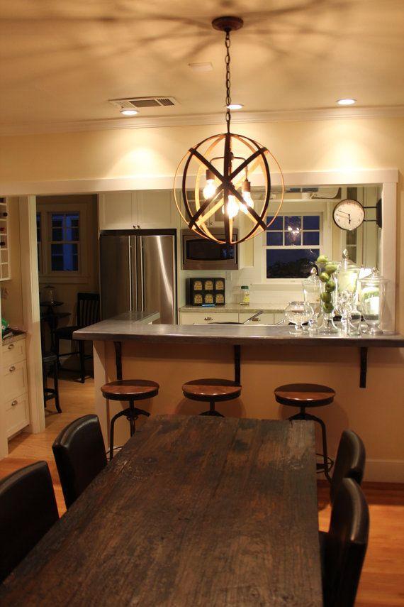 Orb Chandelier Dining Room