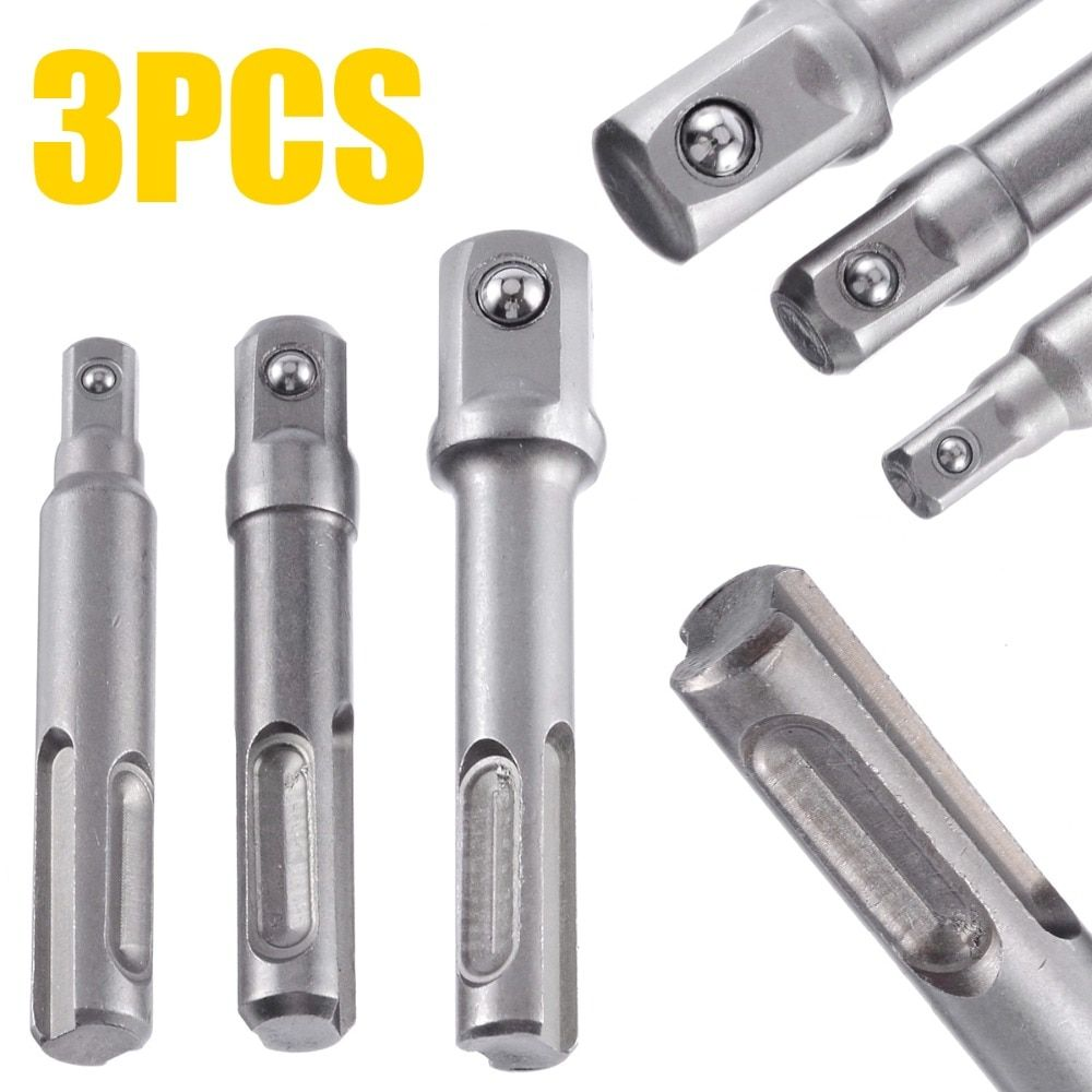 3pcs 1 2 3 8 1 4 Sds Drill Bits Socket Nut Driver Adapter Mini Drill Bit Chuck For Sds Plus Hammer Drills 3pcs Dril Sds Drill Hammer Drills Drill Bits