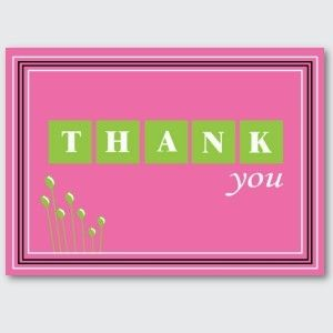 Love This Pink And Green Thank You Card Orianna Loves Alpha Kappa